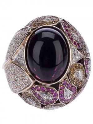 Перстень с сапфирами и бриллиантами Athena. Цвет: фиолетовый