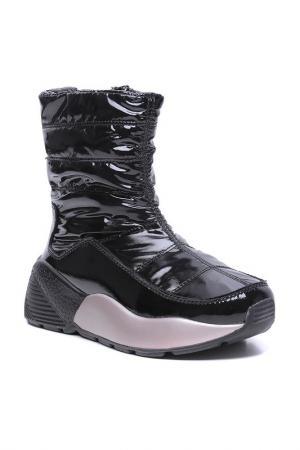 Ботинки дутики Cesare Gaspari. Цвет: черный, бежевый