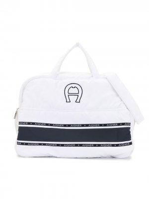 Пеленальная сумка с принтом Aigner Kids. Цвет: синий