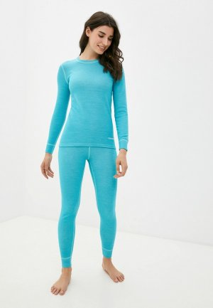 Комплект термобелья Montero Super Wool Protection. Цвет: бирюзовый