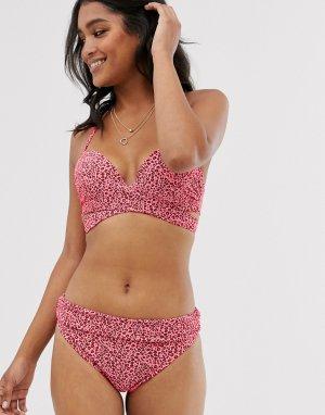 Комбинируемые бикини плавки-хипстеры со звериным принтом -Розовый цвет Lingadore