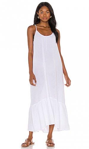 Платье миди double Seafolly. Цвет: белый