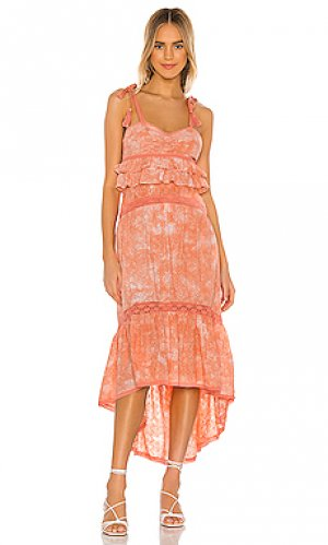 Платье rumer Tularosa. Цвет: оранжевый