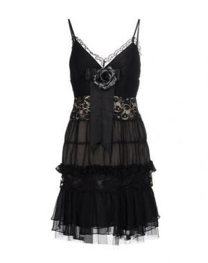 Короткое платье BASIX. Цвет: черный