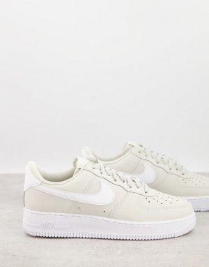 Светло-бежевые кроссовки с белыми вставками Air Force 1 07-Нейтральный Nike