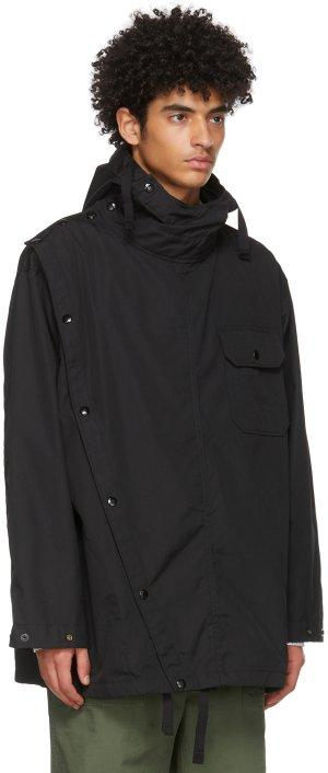 Black Ripstop Sonar Shirt Jacket Engineered Garments. Цвет: zt136 black