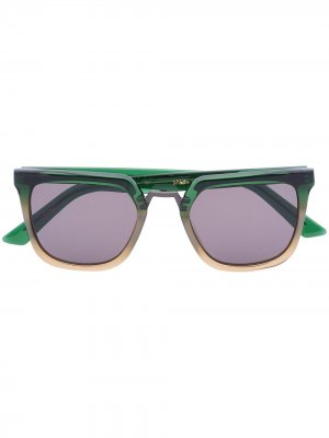 Солнцезащитные очки в оправе с эффектом омбре Kirk Originals. Цвет: зеленый