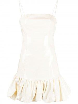 Платье мини Anita с оборками ROTATE. Цвет: нейтральные цвета