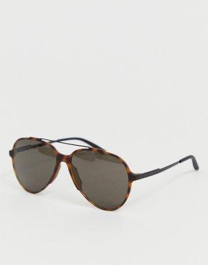 Солнцезащитные очки-авиаторы в черепаховой оправе Carerra-Коричневый Carrera