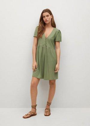 Короткое струящееся платье - Thalia8 Mango. Цвет: хаки