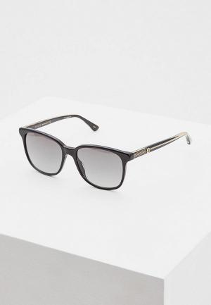 Очки солнцезащитные Gucci GG0376S001. Цвет: черный