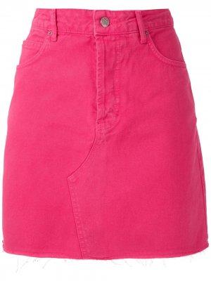 Твиловая юбка мини Eva. Цвет: розовый
