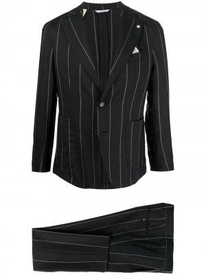 Костюм с однобортным пиджаком Manuel Ritz. Цвет: черный