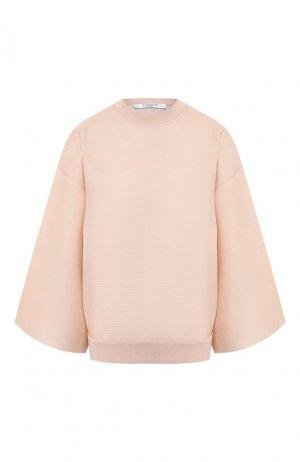 Пуловер из смеси шелка и вискозы Givenchy. Цвет: бежевый