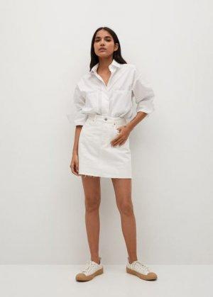 Джинсовая мини-юбка - Rachel Mango. Цвет: белый