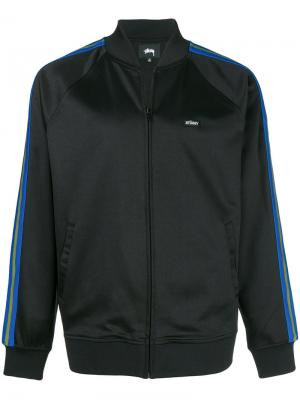 Куртка-бомбер Stussy. Цвет: черный