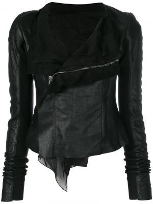 Кожаная куртка Rick Owens. Цвет: чёрный