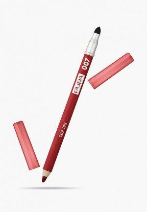 Карандаш для губ Pupa TRUE LIPS т.007 шокирующий красный , 1.2 г.. Цвет: красный