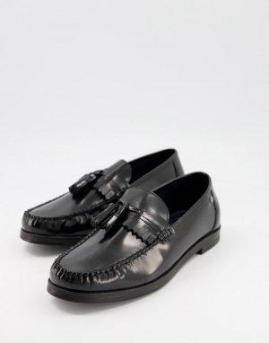 Черные кожаные строгие пенни-лоферы с подвесками-кисточками -Черный Ben Sherman