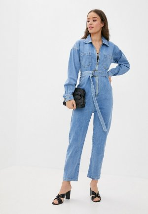 Комбинезон джинсовый Grand Style. Цвет: синий