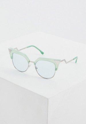 Очки солнцезащитные Fendi FF 0149/S 1ED. Цвет: зеленый