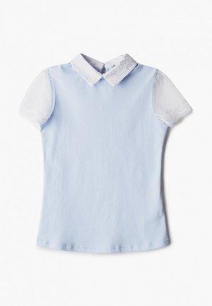Блуза Tforma. Цвет: голубой