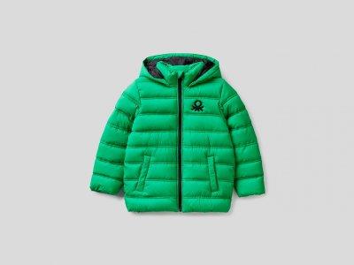 Утепленная куртка Rain Defender Benetton. Цвет: зеленый