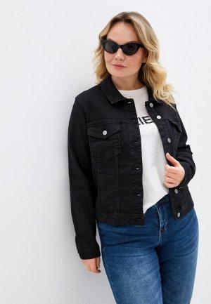 Куртка джинсовая Only Carmakoma. Цвет: черный