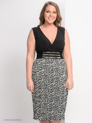 Платье Giani F. Цвет: черный, белый