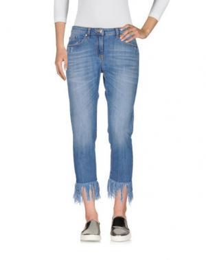 Джинсовые брюки-капри ANNARITA N TWENTY 4H. Цвет: синий