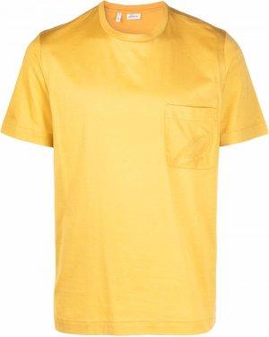 Футболка с накладным карманом Brioni. Цвет: желтый