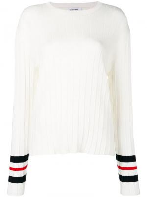 Плиссированный пуловер Trompe Loeil Thom Browne