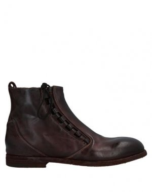 Полусапоги и высокие ботинки PREMIATA. Цвет: темно-коричневый