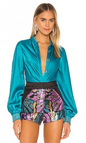 Блузка a little romance Zhivago. Цвет: синий
