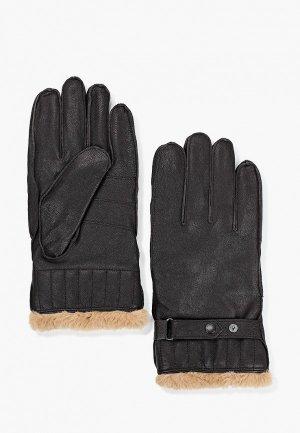 Перчатки Barbour. Цвет: коричневый