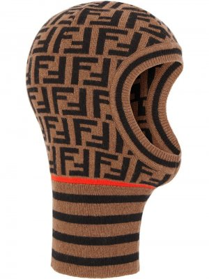 Балаклава с логотипом FF Fendi. Цвет: коричневый