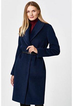Шерстяное пальто с ремнем Elema