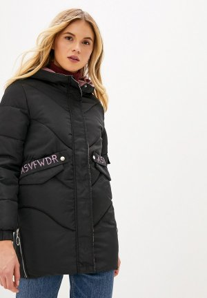 Куртка утепленная Vagi. Цвет: черный