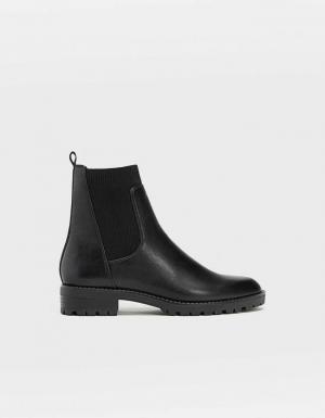 Черные ботинки челси ЖЕНСКАЯ КОЛЛЕКЦИЯ Черный 40 Stradivarius