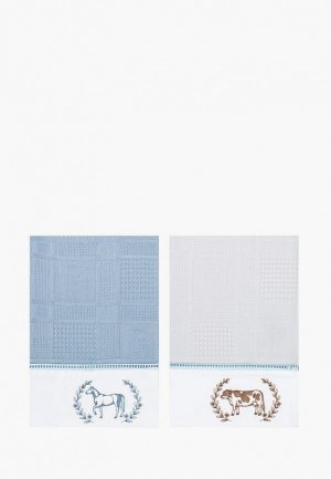 Набор полотенец кухонных Bellehome Усадьба, 40х70 см