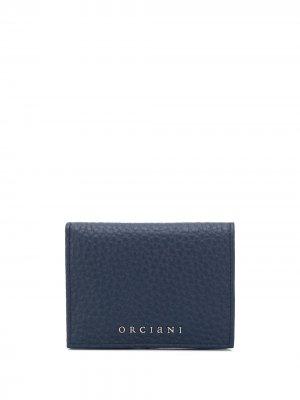 Бумажник с логотипом Orciani. Цвет: синий