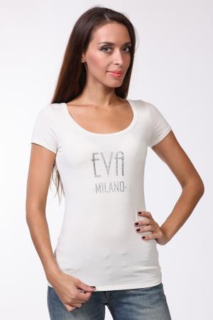 Футболка EVA Milano. Цвет: бежевый