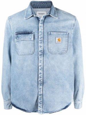 Джинсовая куртка-рубашка Carhartt WIP. Цвет: синий