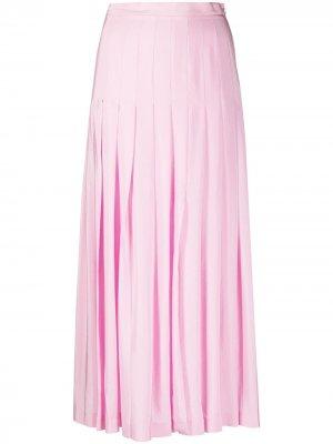 Плиссированная юбка миди Giambattista Valli. Цвет: розовый