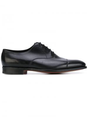Классические туфли оксфорды John Lobb. Цвет: черный