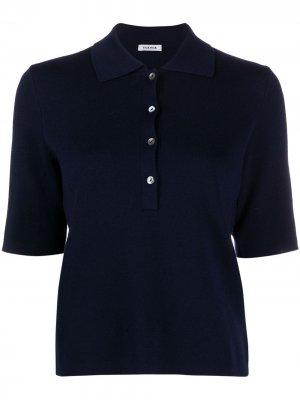Knitted polo top P.A.R.O.S.H.. Цвет: синий
