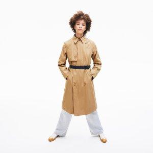Куртка Тренчкот Lacoste. Цвет: бежевый