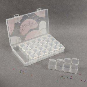 Контейнер для декора, 7 блоков, 4 ячейки, 17,5 × 10,5 2,7 см, цвет прозрачный Queen fair