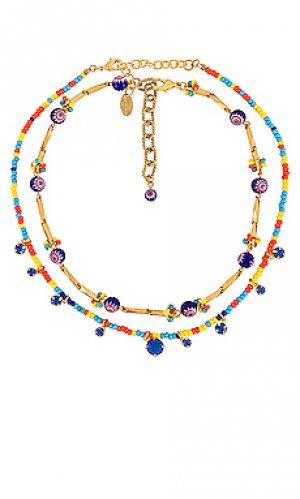 Набор ожерелий ivey & alicia Elizabeth Cole. Цвет: металлический золотой