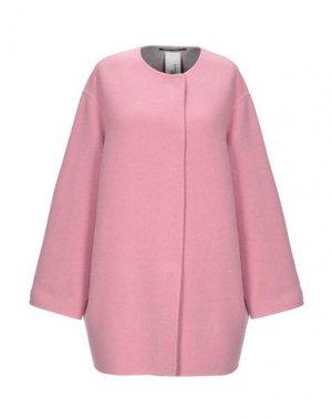 Пальто MANUELA CONTI. Цвет: розовый